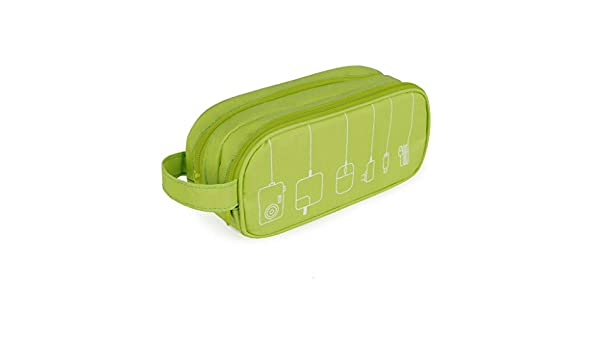 Balvi Organizador Cables Tidy Color Verde Estuche Doble con Bolsillos y separadores con asa Poliéster 22,5 cm: Amazon.es: Hogar