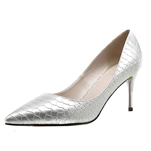 Silver Court Snakeskin 5cm uBeauty Heel Mesh 16cm 12cm Toe High Pumps Sandals Women's 10cm Heel Pointed Shoes Snakeskin Colorful 8 Sryqqtpac