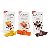 GODIVA Chocolatier Wrapped Chocolate Masterpieces Variety Pack, Gift Box, Pack of 3 Bags