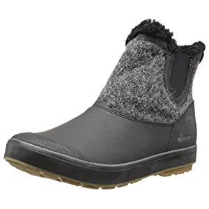 KEEN Women's Elsa Chelsea WP-w Snow Boot, Black Wool, 8 M US
