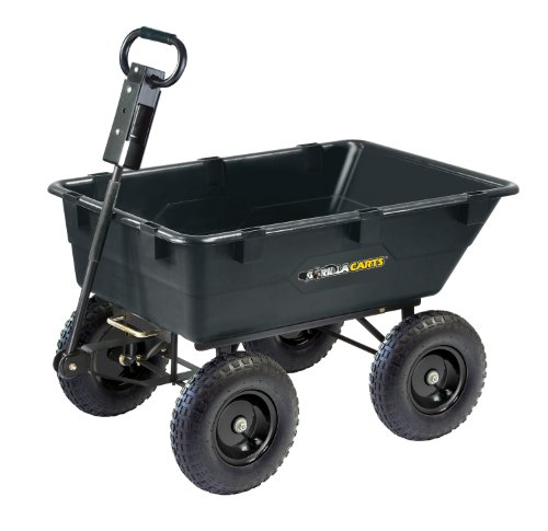 gorilla-carts-gor866d-heavy-duty-garden-poly-dump-cart-with-2-in-1-convertible-handle-1200-pound-cap