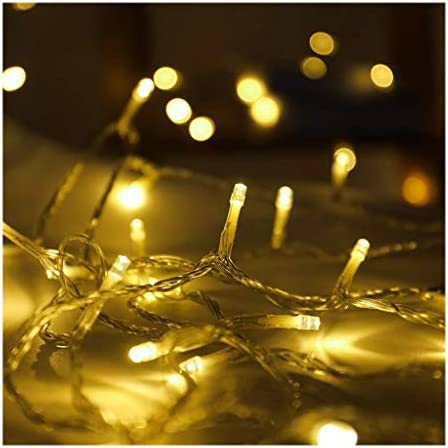 Lichterkette,String Licht,String Licht Weihnachten Lights Stimmungslichter Lichterkette For Zimmer Batteriebetrieben Led Lichterkette For Outdoor,Garten,Hochzeit,Party (Color : White)