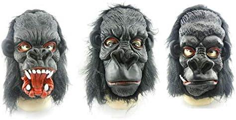KBWL Atrezzo Traje Gorila Negro Máscaras Guantes Látex Halloween ...