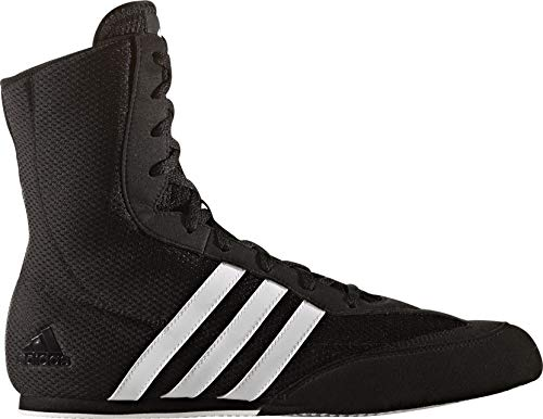 adidas Box Hog Mens Boxing Trainer Shoe Boot Black/White - UK 12.5