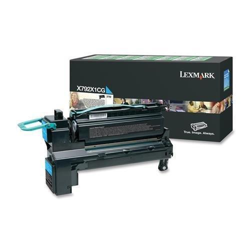 X792X1CG Lexmark X792 High Yield Toner Cartridge - Cyan - Laser - 20000 Page - 1 Each