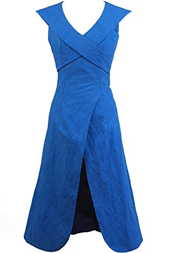 Cosplaysky Game of Thrones Costume Mother of Dragons Daenerys Targaryen Blue Dress Large
