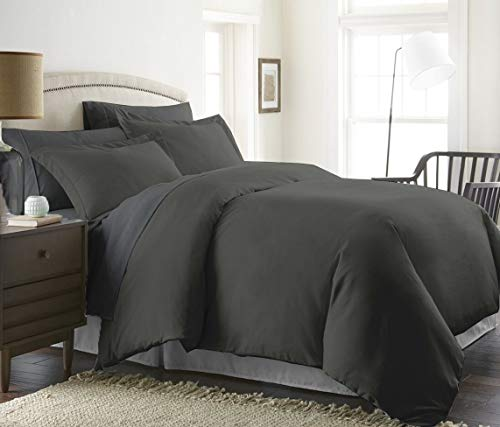 Bed Alter 1000 Thread Count Duvet Cover with Zipper 100% Egyptian Cotton Luxurious & Hypoallergenic (Queen/Full, Grey) (And Duvet Sets Cover Bed Bath Beyond)
