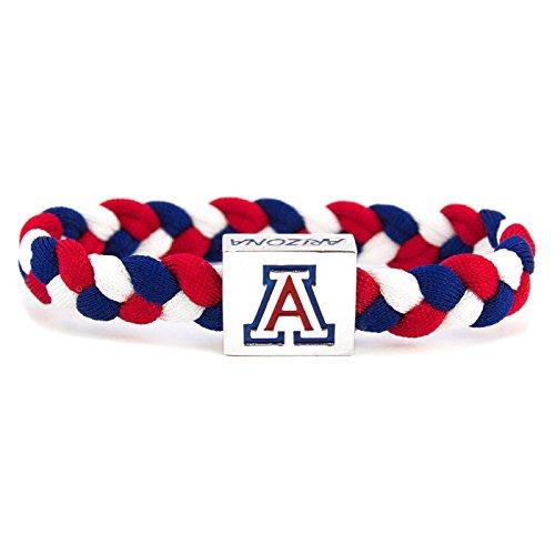 Glass-U NCAA Game Day Nylon Woven Bracelet - Arizona Wildcats