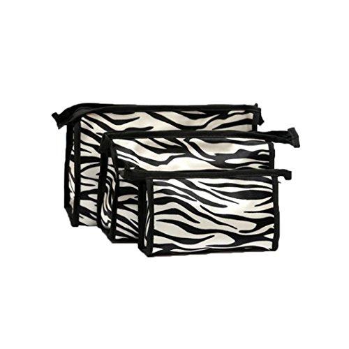 [Hatop 3pcs Cosmetic Toiletry Travel Wash Makeup Bag Holder Pouch Kits Set (B)] (Replica Makeup)