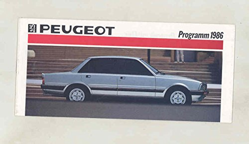 1986 Peugeot 205 305 505 J5 Small Brochure German