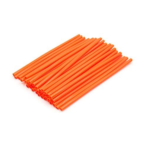 Wire Motorcycle Wheels Spoke (uxcell 36pcs 17cm Length Motorcycle Wheel Steel Wire Spoke Reflective Clip Tube Orange)