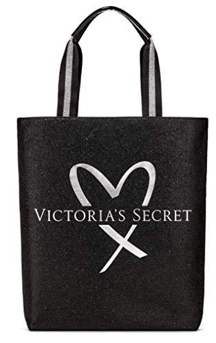 - Victoria's Secret Fashion Show tote bag glamour glitter black silver