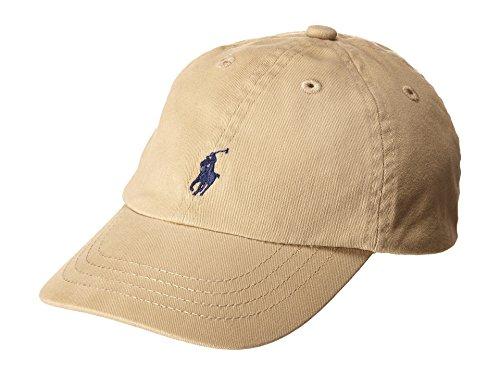 (Ralph Lauren Infant Unisex Cotton Twill Baseball Cap (One size, Classic khaki))