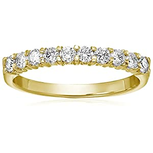 1/2 cttw I1-I2 Diamond Wedding Band 14K White or Yellow Gold Prong Ring Round