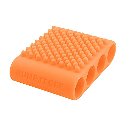 Bump It Off Silicone Cleaning Scrubber Brush for Fabric, Kitchen, Pets, Body, Beauty | Orange