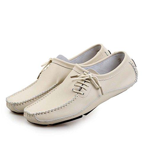ZXCV Zapatos al aire libre Los hombres de zapatos casuales zapatos de cuero primera capa de zapatos de cuero Beige