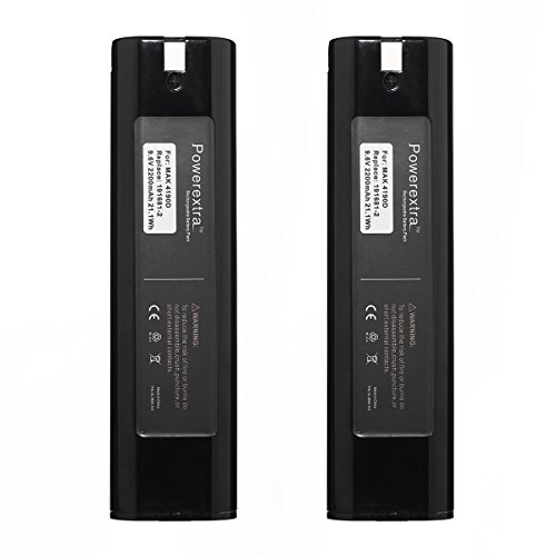 Powerextra 2 Pack Makita 9.6v 2200mAh High capacity Battery for Makita 9000 9033 193890-9 192696-2 632007-4