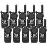 10 Pack of Motorola CLS1410 Two Way Radio Walkie Talkies (UHF)