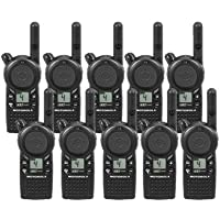 10 Pack of Motorola CLS1410 Two Way Radio Walkie Talkies (UHF)