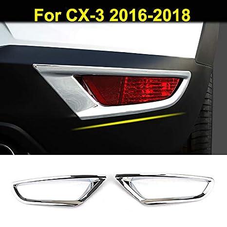 Fit for Mazda CX-3 CX3 2016 2017 2018 2019 Chrome Rear Fog Light Lamp Cover Trims