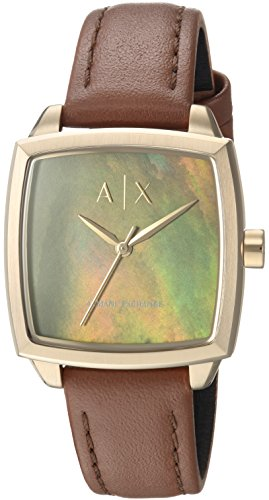 Armani Exchange Women's Dress Brown Leather Watch AX5451