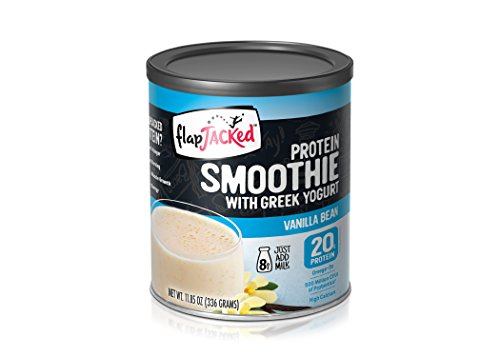 FlapJacked Protein Smoothie Mix with Greek Yogurt, Vanilla Bean, Can (8 Servings)