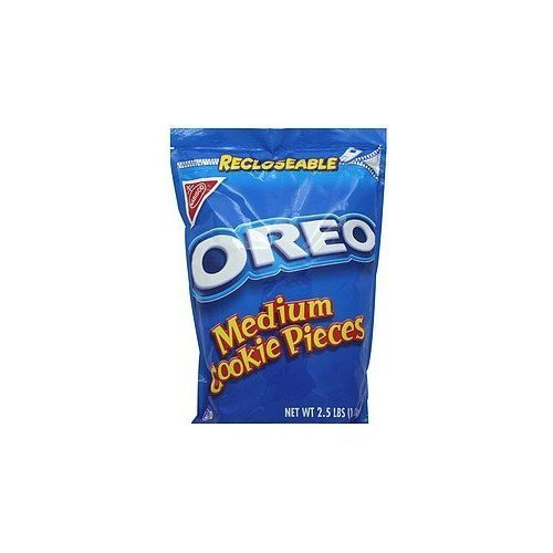 - Nabisco Oreo, Medium Cookie Pieces, 2.5 lbs. Resealable Bag (Individual)