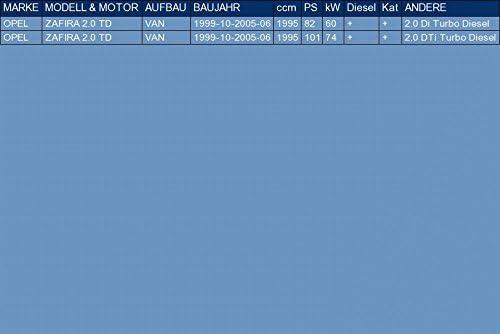ETS-EXHAUST 51350 Silencieux interm/édiaire pour ZAFIRA 2.0 TD VAN 82//101hp 1999-2005 le kit dassemblage complet