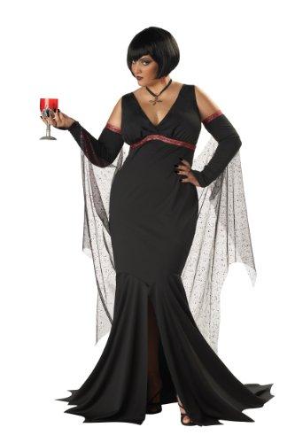 California Costumes Women's Immortal Seductress Costume, Black, 2XL (18-20) (Va Va Vamp Wig)