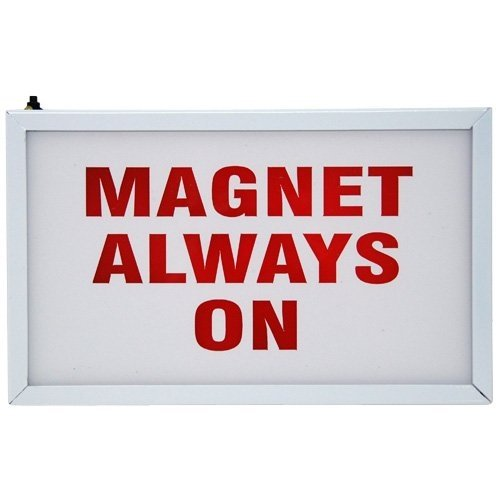 LED Illuminated Medical Door Signs - MRI ''Magnet Always On'' Double Sided 11'' x 9'' x 2-1/4''