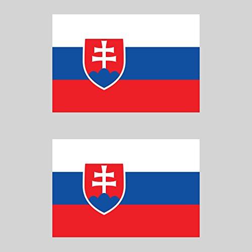 Two Pack Slovak Flag Sticker FA Graphix Decal Self Adhesive Vinyl Slovakia SVK - Svk Slovakia