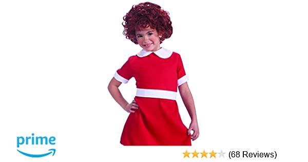 CUTE ORPHAN ANNIE RED DRESS fancy Dress outfit ALL AGES