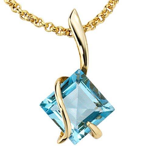 Pendentif topaze edeltopas 375 pendentif en or pour femme