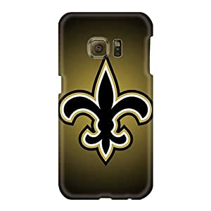 Scratch Resistant Hard Phone Case For Samsung Galaxy S6 (GtH1702WvBN) Support Personal Customs Colorful New Orleans Saints Series