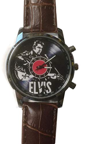 Elvis Presley with Guitar Genuine Leather Band Wrist -