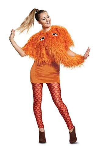 (Disguise Women's Snuffy Ladies Deluxe Adult Costume, Orange, M)