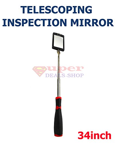 (Telescoping Lighted Inspection Mirror Inspection Mirror Telescoping LED Lighted Inspection Mirror Telescoping LED Lighted Inspection Mirror 360 Swivel for Extra Viewing 34 inch Super-Deals-Shop)