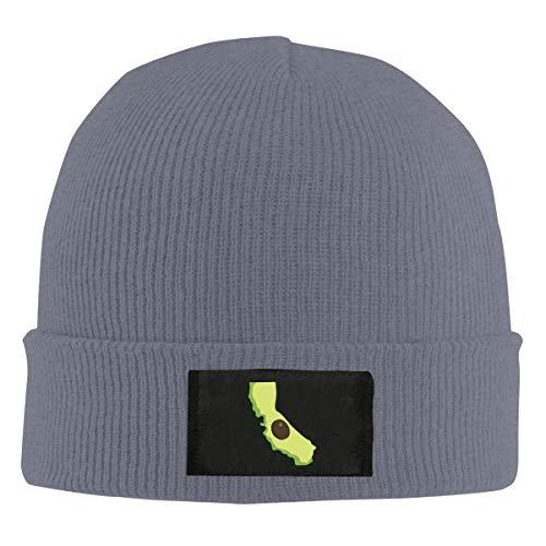 ASDGEGASFAS Unisex California Fresh Avocado Skull Cap Knit Wool Beanie Hat Stretchy Solid Daily Wear Deep Heather ()