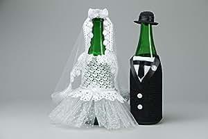 Decoracion para botellas para boda