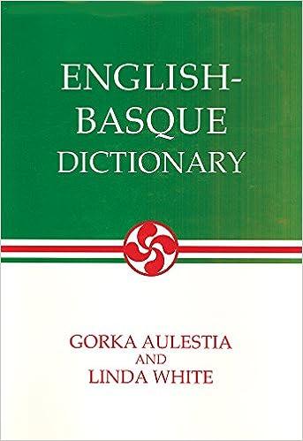 English-Basque Dictionary Basque-English
