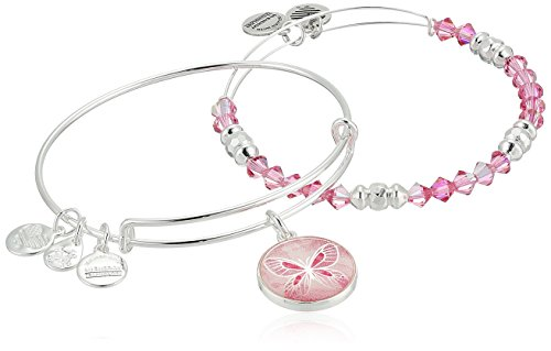 Alex and Ani Womens Art Infusion Set, Butterfly Bracelet