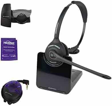 Plantronics Cs540 Wireless Office Headset Bundle With Headset Advisor Wipe Renewed