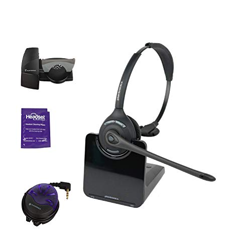 Plantronics CS510 Wireless Office Headset System With Lifter and Online Indicator (Renewed)