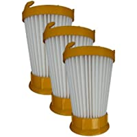(3) Eureka DCF-2 Hepa Filtration Pleated Washable Dirt Cup Vacuum Filter 61805, 39345, 39348