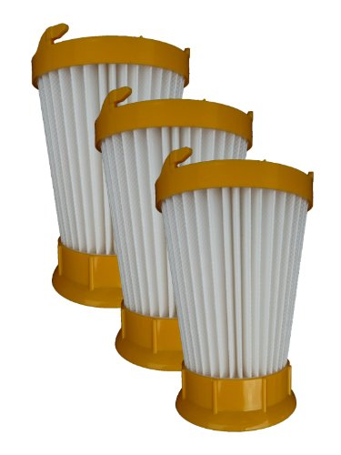 ((3) Eureka DCF-2 Hepa Filtration Pleated Washable Dirt Cup Vacuum Filter 61805, 39345, 39348)