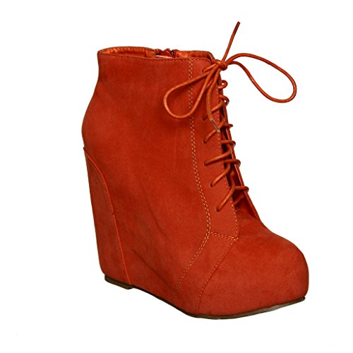 Coral Lace Booties up up Wedge Wedge up Lace Booties Wedge Booties Lace Coral 7xppd
