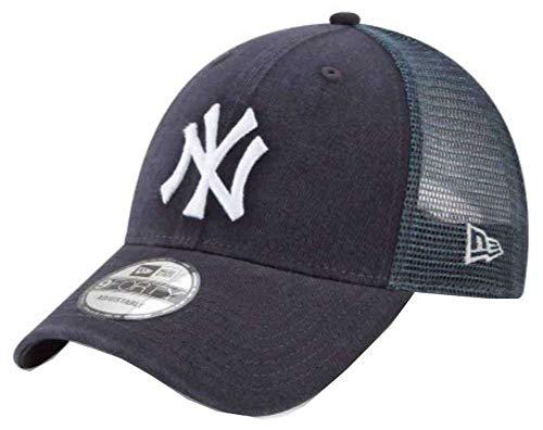 (New Era 9Forty New York Yankees Hat Trucker Adjustable Mesh Navy Blue Cap)
