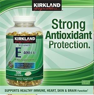 Kirkland Signature Vitamin E 400 IU, 500 Softgels