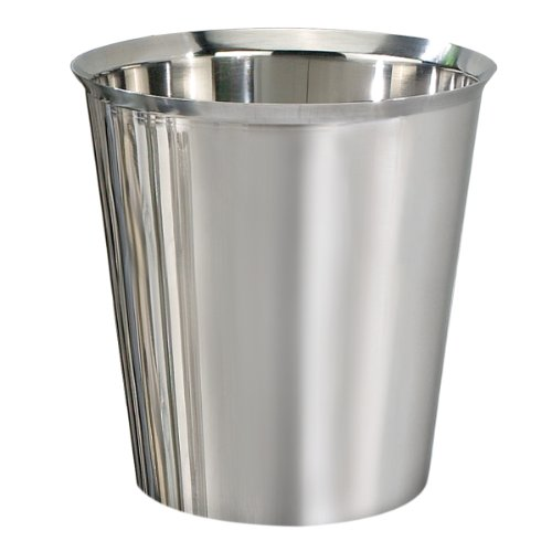 nu steel TG8H Gloss Collection Round Trash Can Wastebasket, Garbage Container Bin -