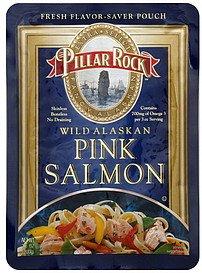 Pillar Rock Alaska Pink Salmon Pouch, Skinless Boneless, 3.0-Ounce Pouches (Pack of 12) -
